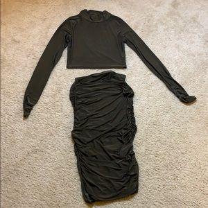 Hunter Green Skirt Set